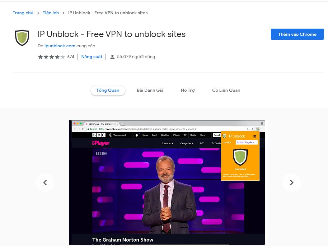 IP Unlock - Fake Ip trên google chrome