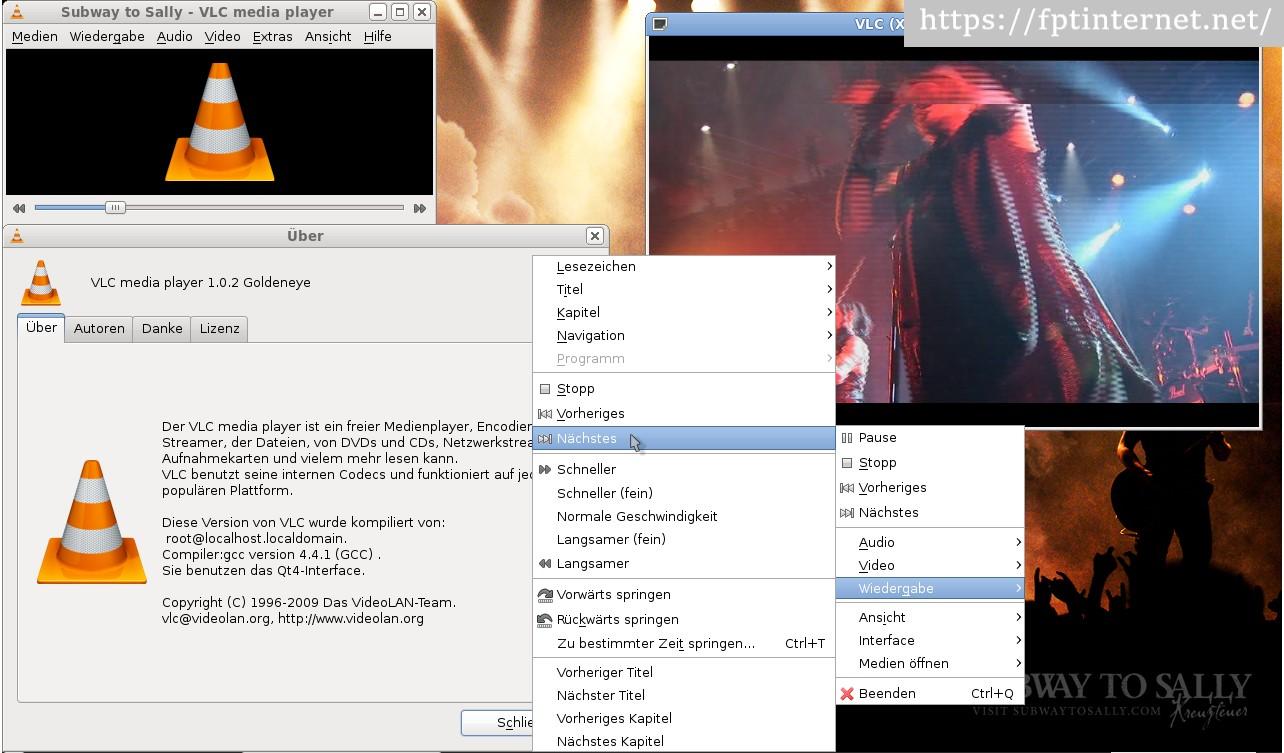Giao diện phần mềm VLC